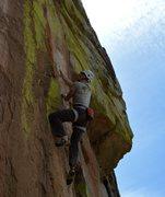 Rock Climbing Photo: An overly dramatic cross.