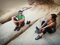 Rock Climbing Photo: Gearing up