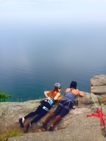 Rock Climbing Photo: Route searching