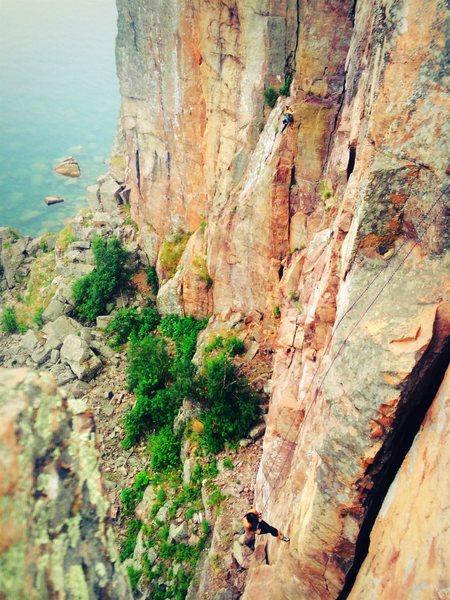 Rock Climbing Photo: Repel race