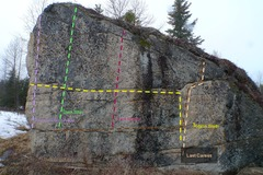 Rock Climbing Photo: The Anchor Point Boulder Southeast Face
