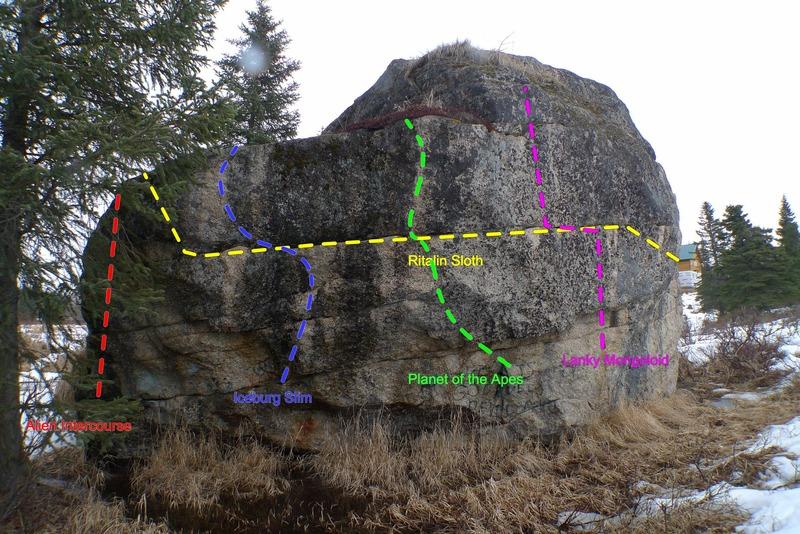 Rock Climbing Photo: The Anchor Point Boulder Southwest Face