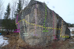 Rock Climbing Photo: The Anchor Point Boulder South Face