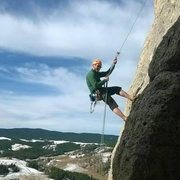 Rock Climbing Photo: Rapping down after the route- super fun climb!