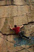 Rock Climbing Photo: Dan starting up My Mind Is A Blank.
