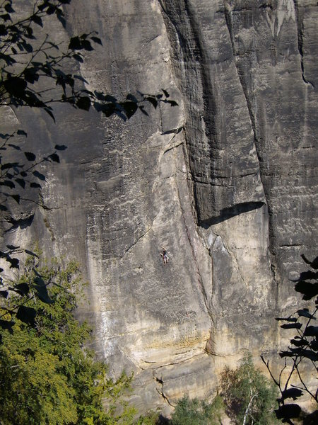 Rock Climbing Photo: Bussard tower, South face. Saxony is famous for th...
