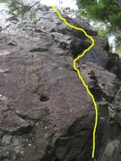 Rock Climbing Photo: approximate line of Carnage Before Bedtime
