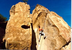 Rock Climbing Photo: Peter Hayes, ca. 1985, near the cruxy top on that ...