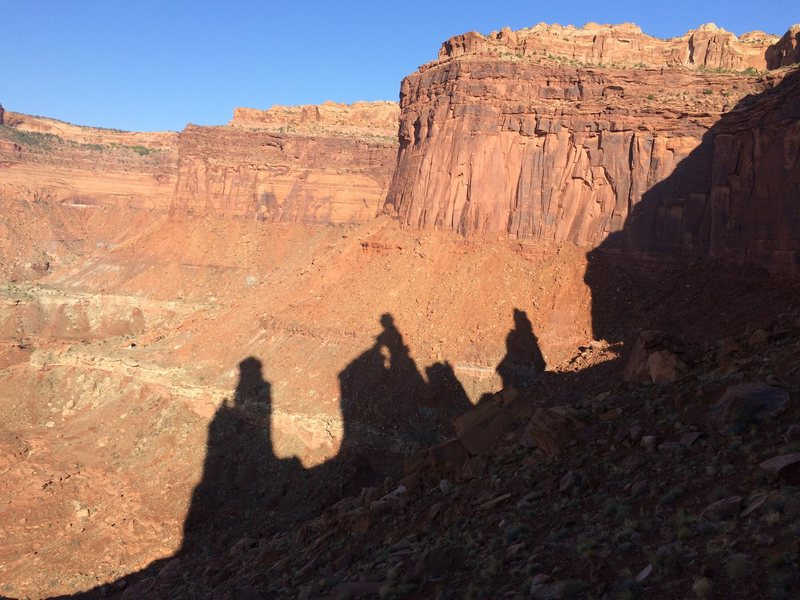 Rock Climbing Photo: Shadow on approach