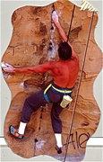 Rock Climbing Photo: Peter Hayes, 1988, nearing the low crux on Sandbla...