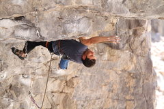 "Rock Climbing Photo: Matt Ciancio, making the final payment on ""No..."
