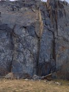 Rock Climbing Photo: Scary! This was a climb... There's the anchor on t...