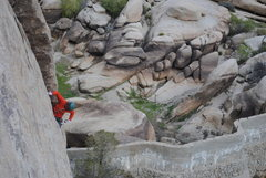 Rock Climbing Photo: Sustained climbing above Barker Dam.