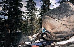 Rock Climbing Photo: Chris on crouching tiger, hidden dragon