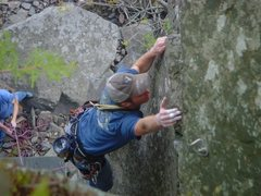 Rock Climbing Photo: My Mother Is A Half Motorboat Top Mantle Section