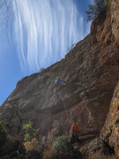 Rock Climbing Photo: Brad Young during the FA of The Long and the Short...