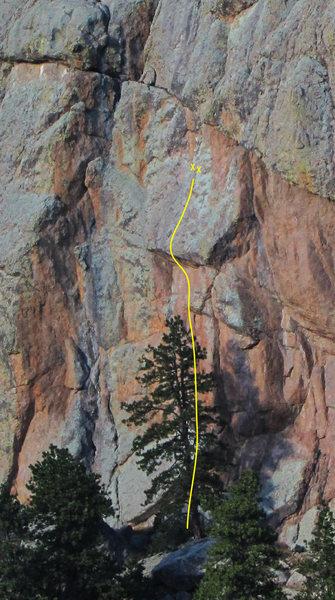 Rock Climbing Photo: Owl Roof topo 2.