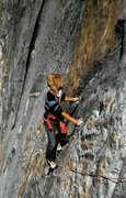 Rock Climbing Photo: Kevin Worrall following the 3rd pitch. Photo by Ge...