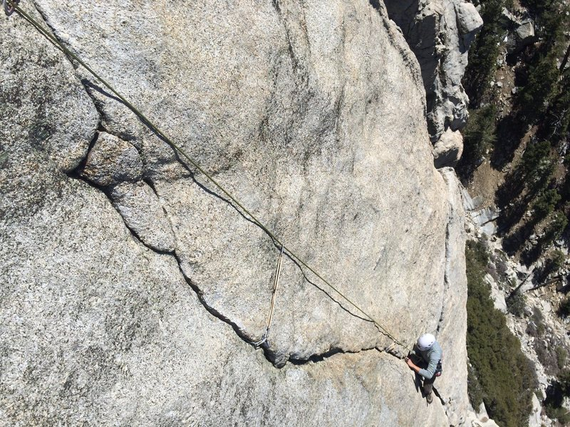 Nicolas Fitzpatrick Firing the Ultimate Splitter Crack to the Max pitch high on the DAB during the 2nd Ascent!!!