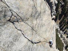 Rock Climbing Photo: Nicolas Fitzpatrick Firing the Ultimate Splitter C...