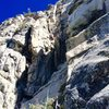 NF leading the Chute pitch during the 2nd ascent of DAB direct!!!