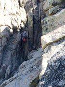 Rock Climbing Photo: Close up of the Chute Pitch1!!!