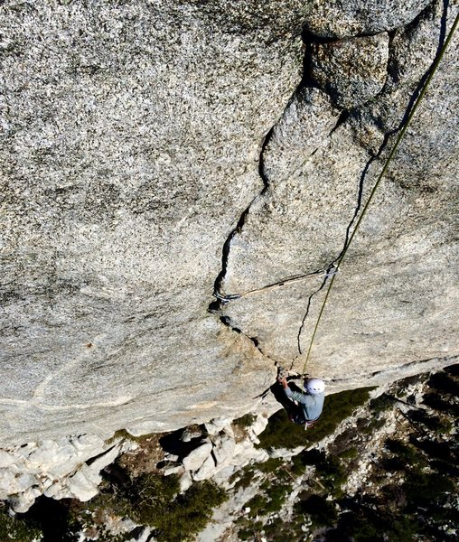Nicolas Fitzpatrick climbs the Ultimate Finger Crack to the Max P3!!!!