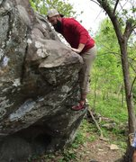 Sean Moore, Haiti's finest and fattest missionary boulderer crushing Ahead.