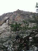 Rock Climbing Photo: Mamas Boy, following the bolt line. Except the tre...