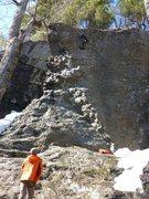 Rock Climbing Photo: Matt Levine on route, photo cred Jay Morse