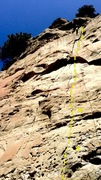 Rock Climbing Photo: 2 bolts on the bottom are a little iffy, but the c...