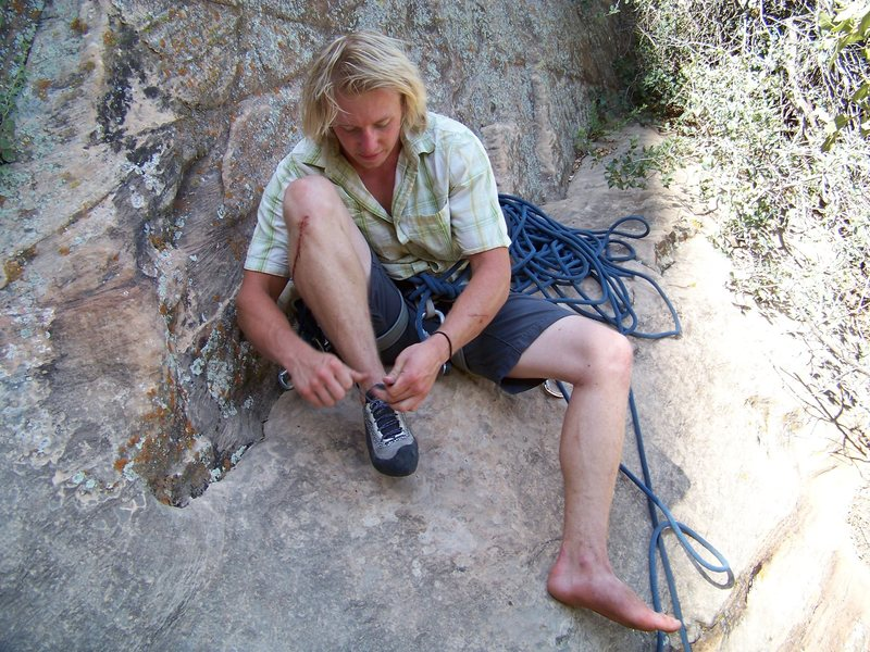 Rock Climbing Photo: The man. C. Raber
