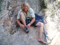 Rock Climbing Photo: The man. C. Raber
