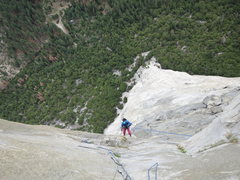 HG following Great Roof, Nose Route, 21st June 2014.