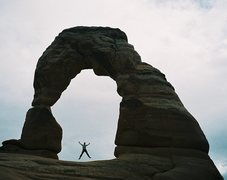 Rock Climbing Photo: Delicate Arch