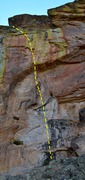 Rock Climbing Photo: Topo of Chest Cracker.