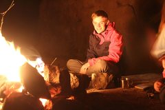 Rock Climbing Photo: campfire after a long day of hiking