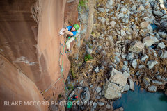 Rock Climbing Photo: Worth The Weight The Gold Wall, Paradise Forks  Ar...