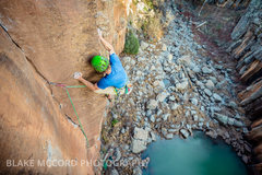 Rock Climbing Photo: Worth The Weight The Gold Wall, Paradise Forks Ari...