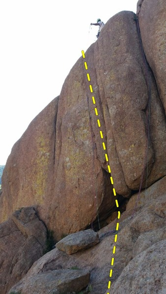Rock Climbing Photo: The left pair of ropes below the climber is hangin...