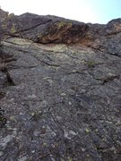 Rock Climbing Photo: The route.  The first two bolts are visible if you...