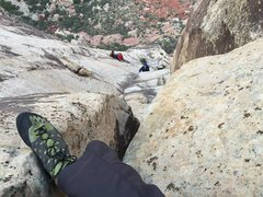 Rock Climbing Photo: Top of pitch 4 Frogland Red Rock NV