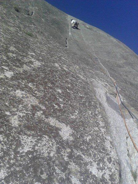 Rock Climbing Photo: Hammer Dome, Gemini Crack, P3