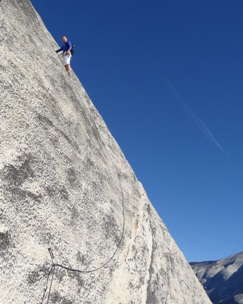 Rock Climbing Photo: Yosemite, North Dome, Crest Jewel, P1