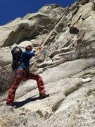 Rock Climbing Photo: Behold! Le wide crack!!