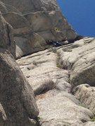 Rock Climbing Photo: Nearing the first belay