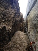 Rock Climbing Photo: This is J-Sexy looking UP towards the top. Note th...