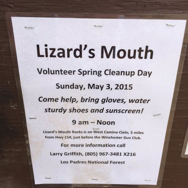 Rock Climbing Photo: May 3rd Lizards Mouth Cleanup