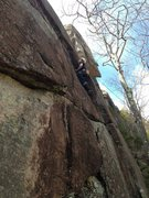 Rock Climbing Photo: torie starting up P1 of the stack