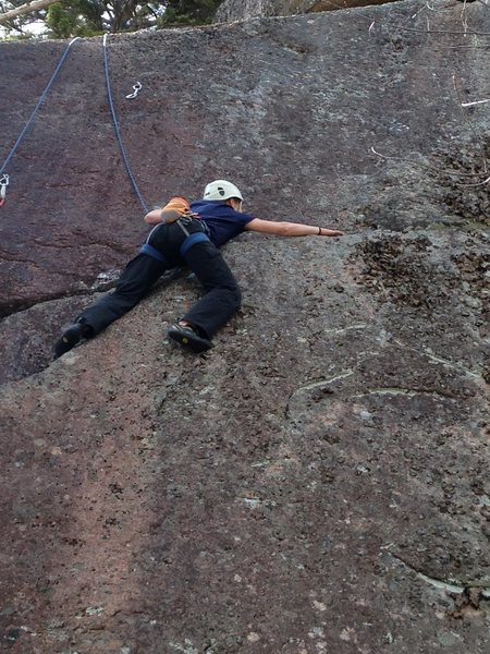 Rock Climbing Photo: torie on what we found to be the crux of P1